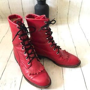 Justin Boots L503 Vintage Red Sz 7